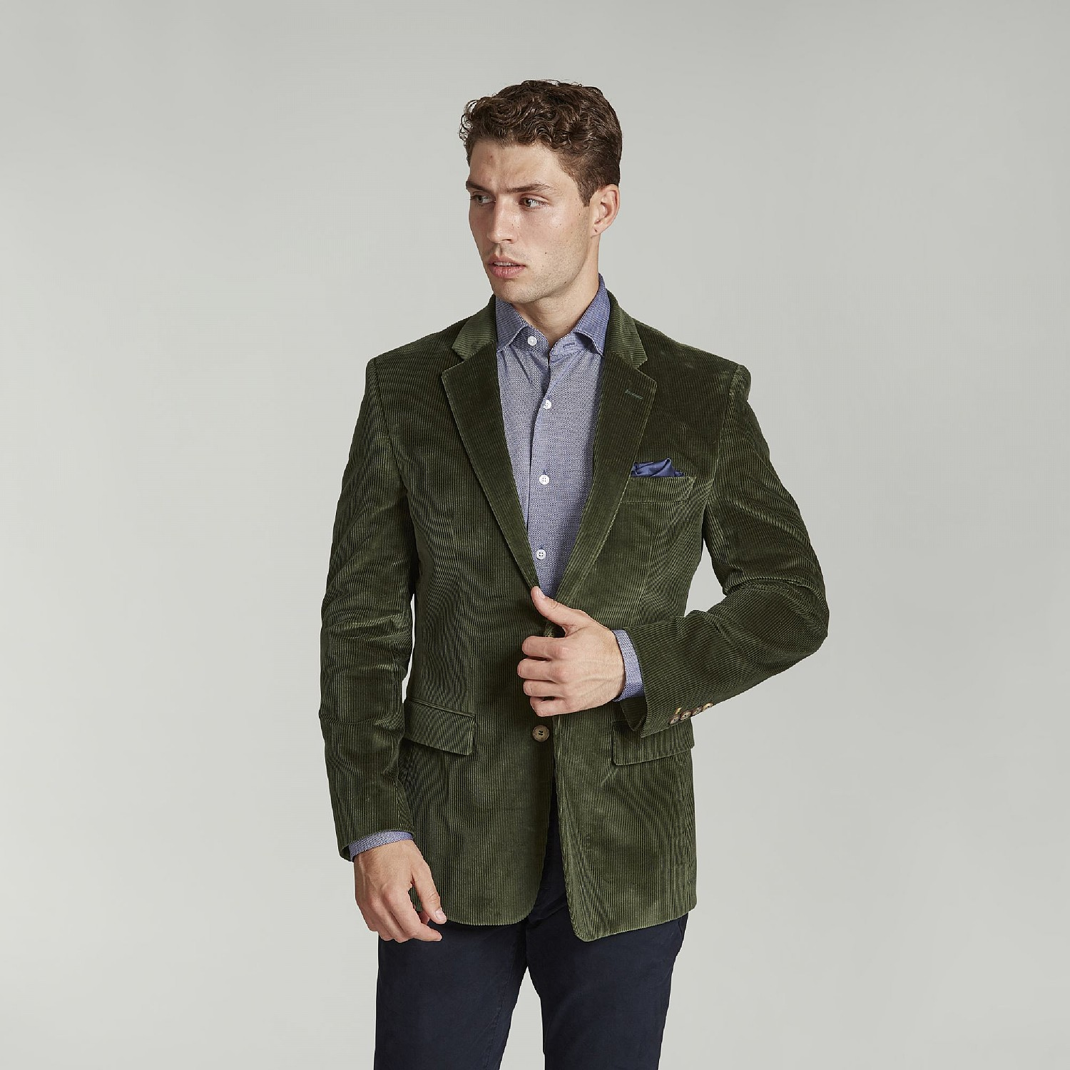 Green English Corduroy