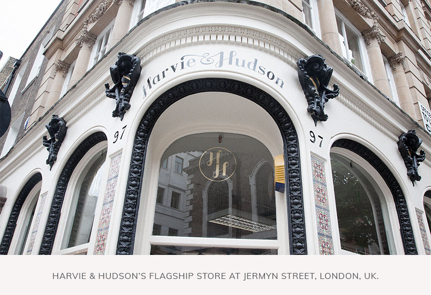 Harvie and Hudson's Flagship Store at Jermyn Street