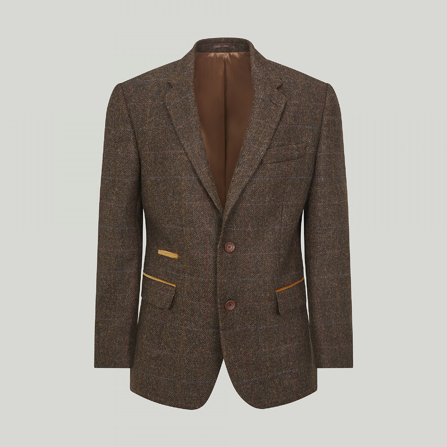 Brown and Gold Check Jacket