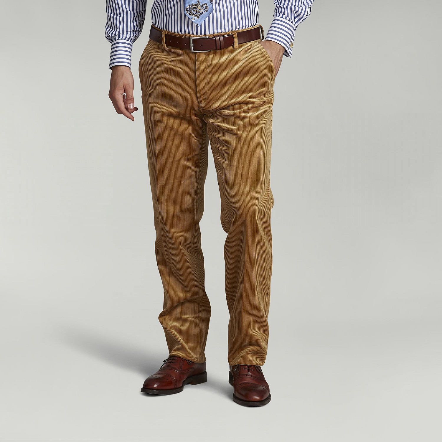 Fawn Corduroy Trousers
