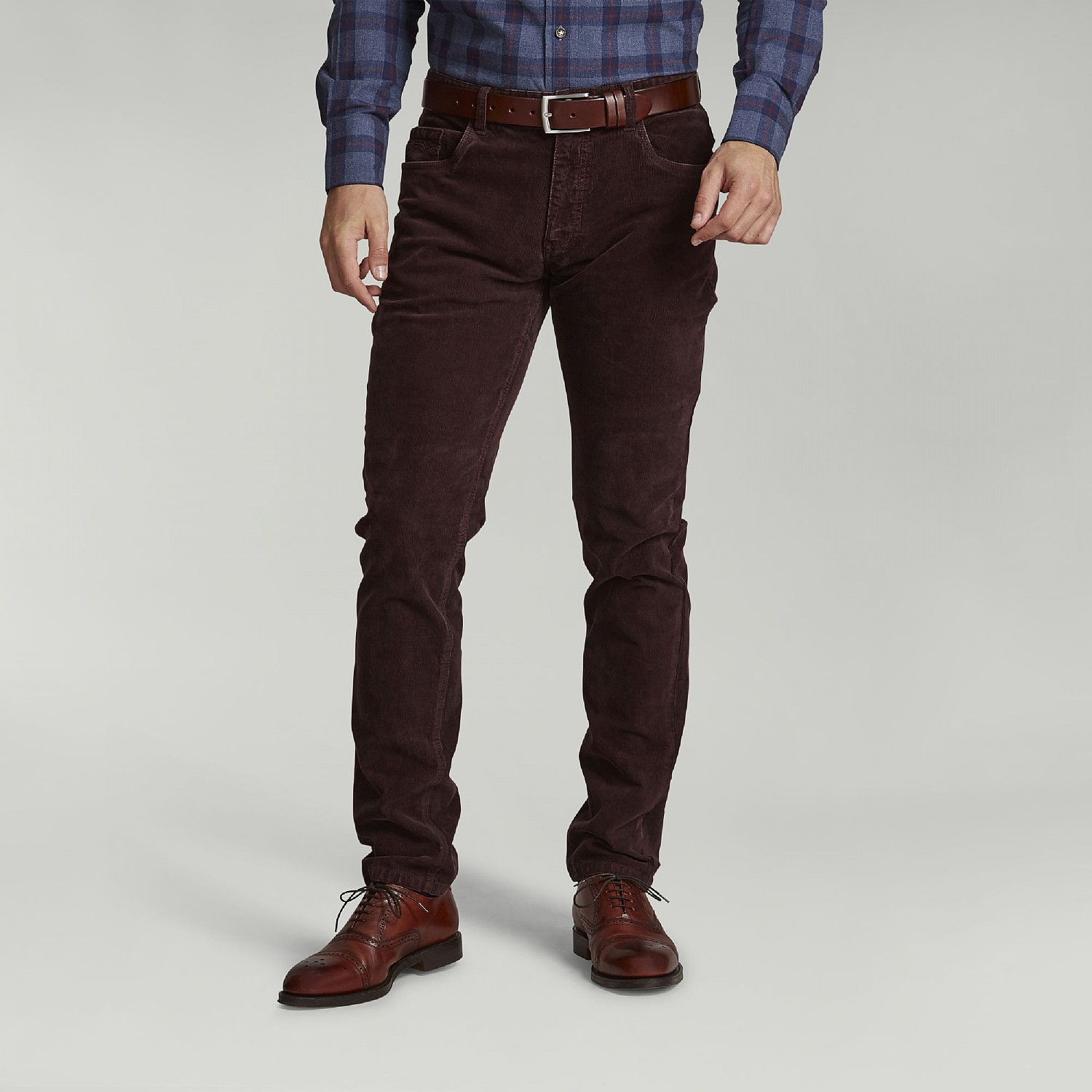 Burgundy Cord Trousers