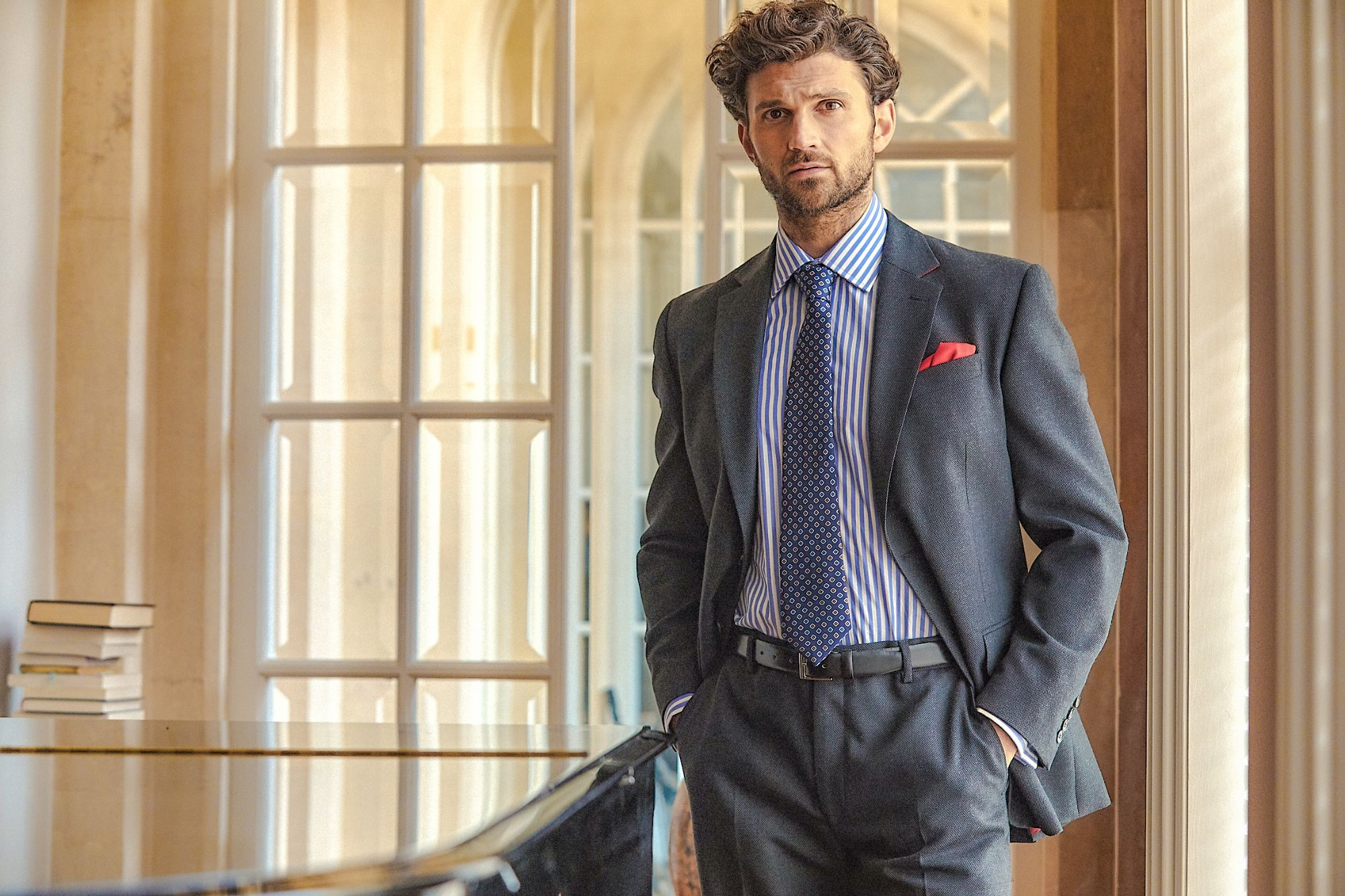 Grey Lightweight Gaberdine Suit