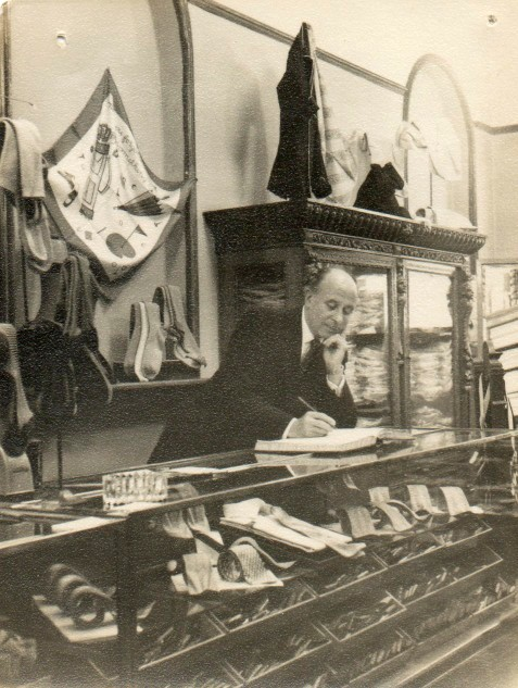 Thomas Harvie inside the First Harvie and Hudson Store