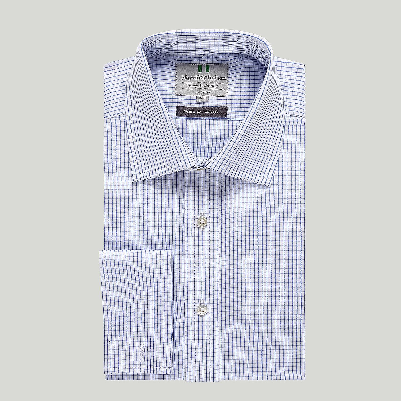 fb0ed39f Blue Graph Check Double Cuff Classic Shirt