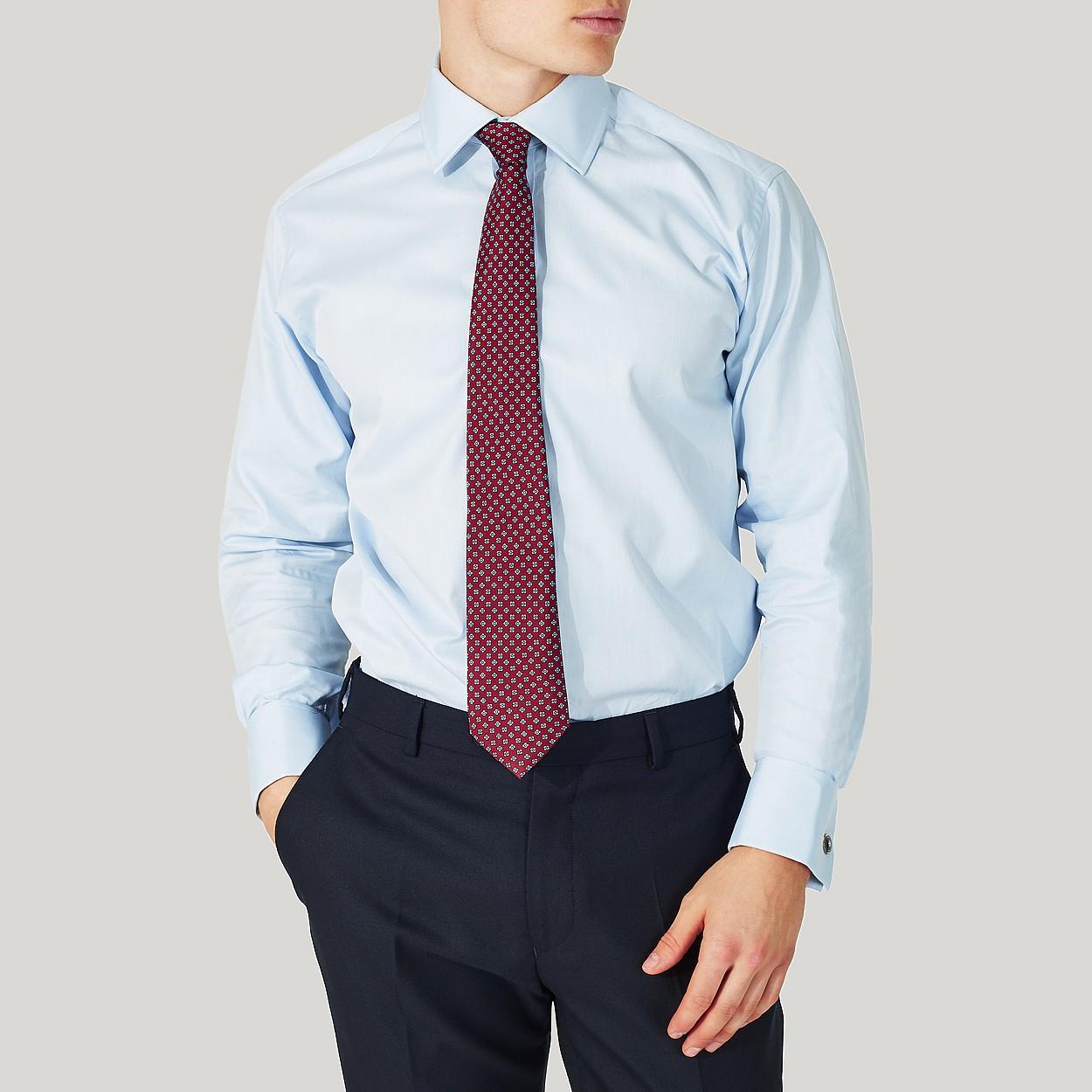 "5/"" JCB Shirt Cotton Slim Fit Shirt Double Cuff blue 16"