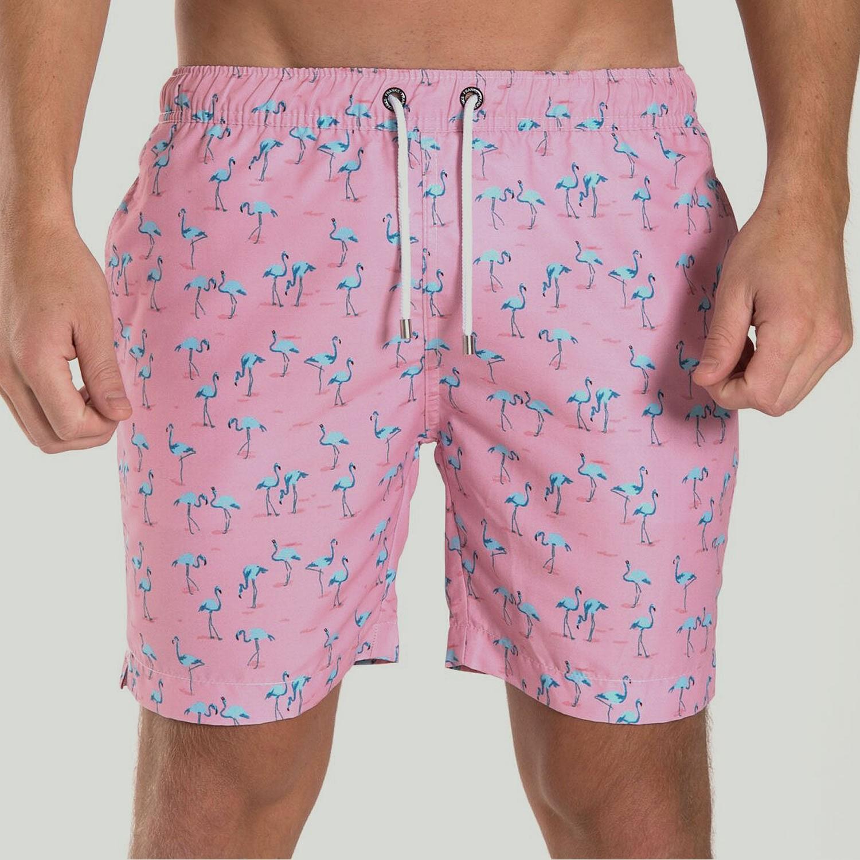 9f3db935fde Pink Flamingo Print Swim Short