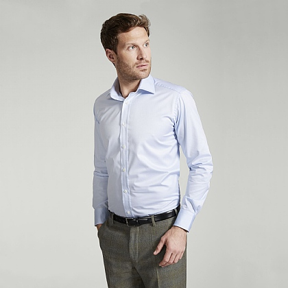 Blue Traveller Button Cuff Classic Shirt
