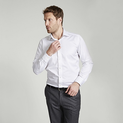 White Traveller Button Cuff Classic Shirt