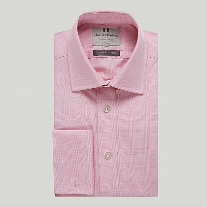 Pink Prince of Wales Double Cuff Classic Shirt