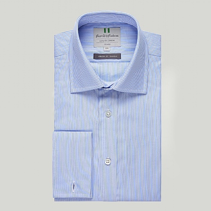 Light Blue Stripe Double Cuff Classic Shirt