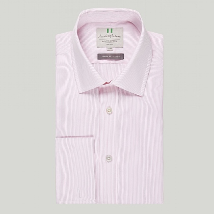 Pink Pencil Stripe Double Cuff Classic Shirt