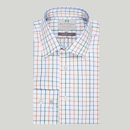 Multi Colour Check Button Cuff Classic Shirt