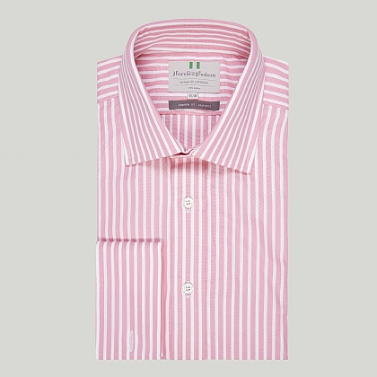 Pink Chalk Stripe Double Cuff Classic Shirt