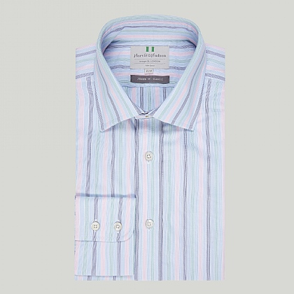 Heritage Multi Stripe Button Cuff Classic Shirt