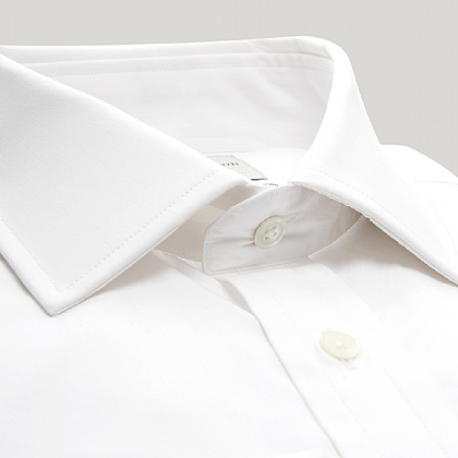 White Plain Poplin Button Cuff Shirt