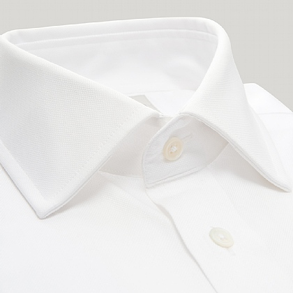 White Royal Oxford Button Cuff Shirt