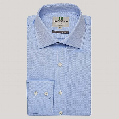 Blue Royal Oxford Button Cuff Shirt