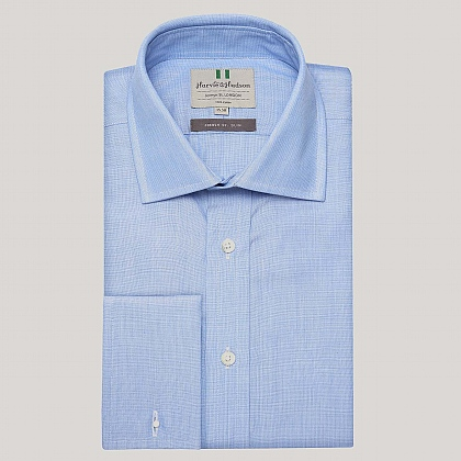 Blue End on End Slim Fit Shirt