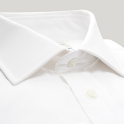 White Plain Poplin Double Cuff Shirt