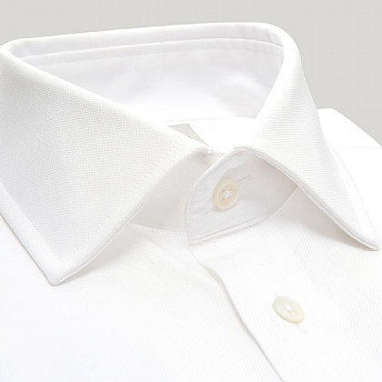 White Royal Oxford Double Cuff Shirt