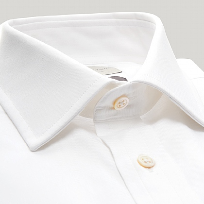 White Fine Twill Slim Fit Shirt