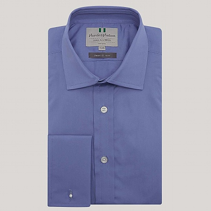 Pacific Plain Poplin Double Cuff Slim Fit Shirt