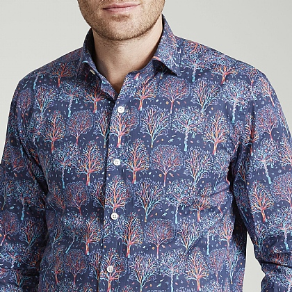 Liberty Tree Scene Cotton Shirt