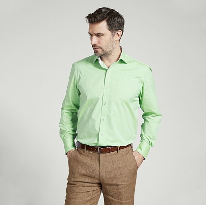 Lime Green Lightweight Cotton Shirt