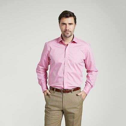 Candy Pink Lightweight Cotton Shirt