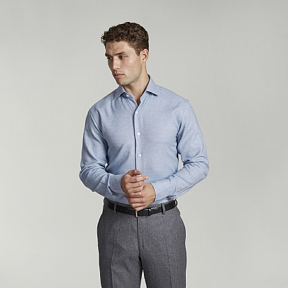 Pale Blue Cotton Casual Shirt