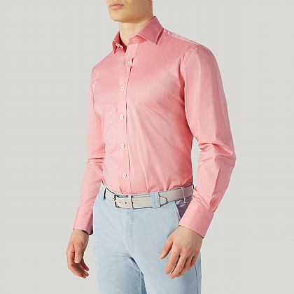 Pink 100% Cotton Casual Shirt