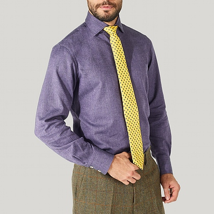 Purple Herringbone Shirt
