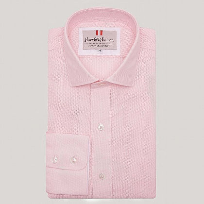 Pink Contrast Cotton Shirt