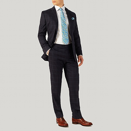 Navy with Blue Overcheck Suit