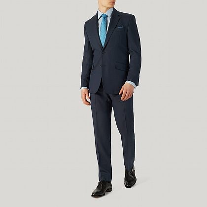 Blue Birdseye Suit