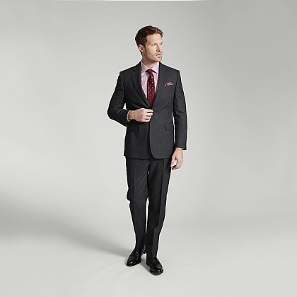Grey Birdseye Merino Wool Suit