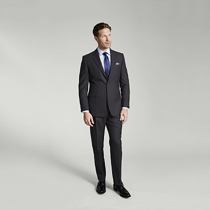 Grey Fine Worsted Wool Suit