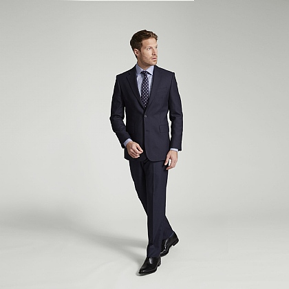 Navy Fine Worsted Wool Suit