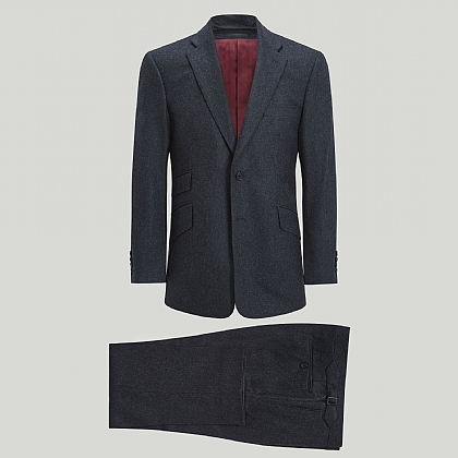 Italian Super 100 Grey Flannel Suit