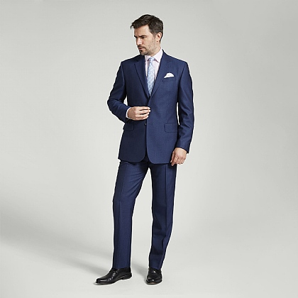 Light Navy British Wool Suit