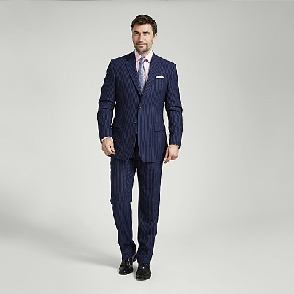 Navy Stripe Super 110s British Wool Suit