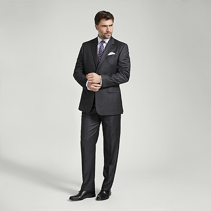 Dark Grey Italian Super 120s Wool Suit