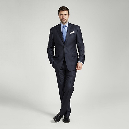 Navy Italian Super 120s Wool Suit