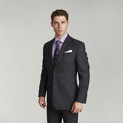 Grey Birdseye Suit