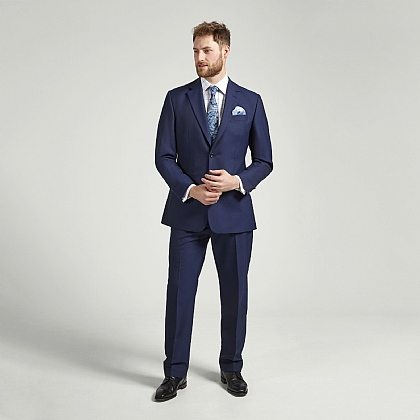 Navy Lightweight Gaberdine Suit