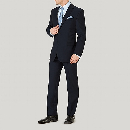 Navy Plain Pick n Pick Wool Suit