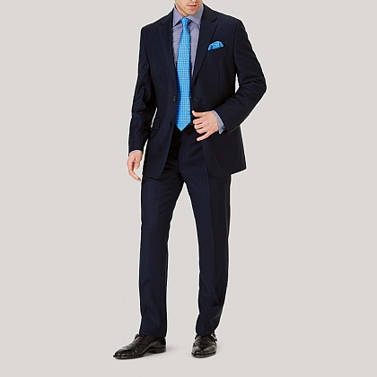 Navy Stripe Classic Fit Suit