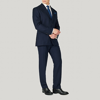 Navy Birdseye Tailored Fit Suit
