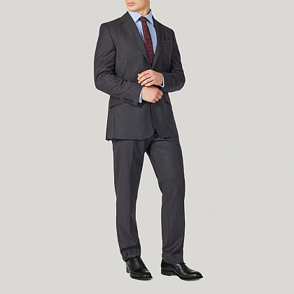 Grey Wool Contemporary Fit Suit