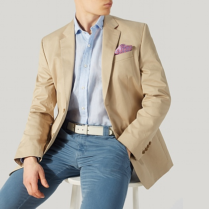 Beige Cotton Summer Jacket